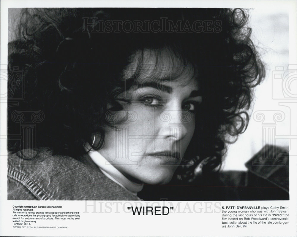 1989 Press Photo Actress Patti D\'Arbanville in Movie Wired ...
