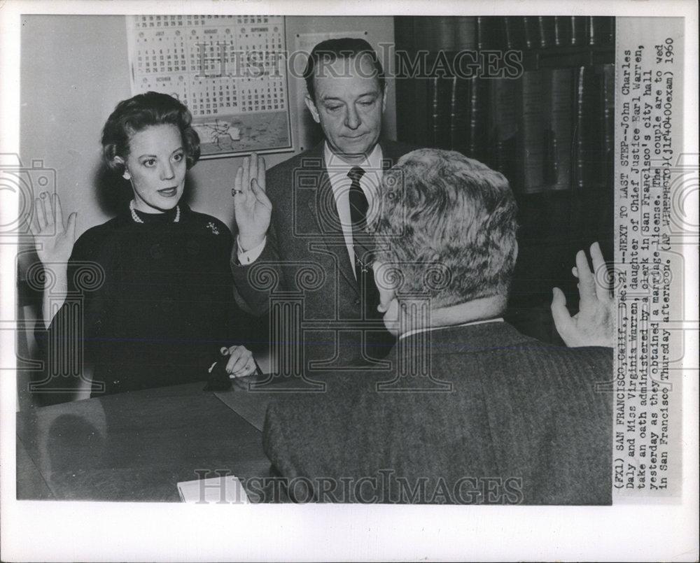 1960 Press Virginia Warren John Charles Daly Marriage