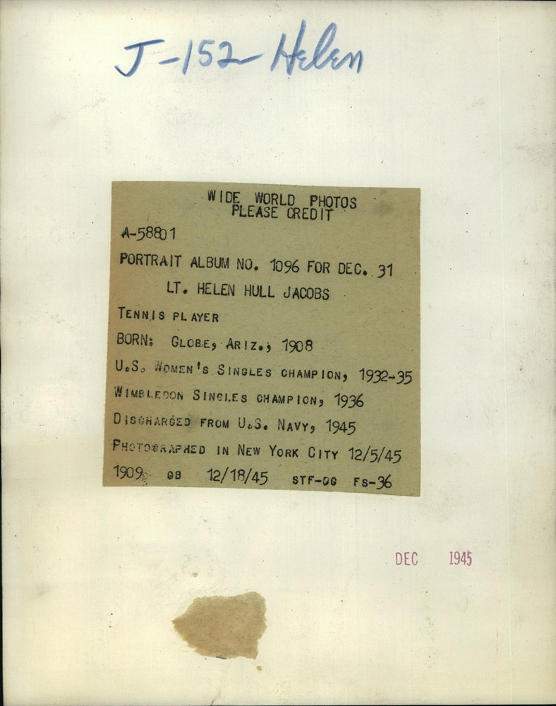 1945 Press Lt Helen Hull Jacobs