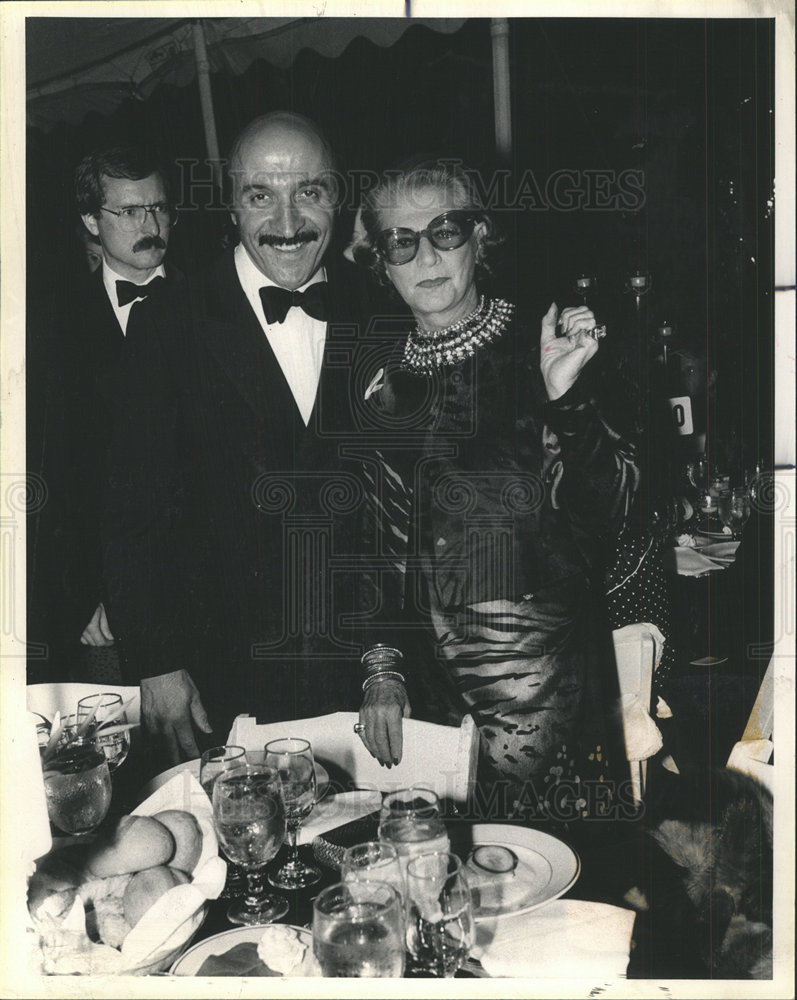 1984 Press Photo Pauline Trigere American Fashion Designer Tony Rossi Historic Images