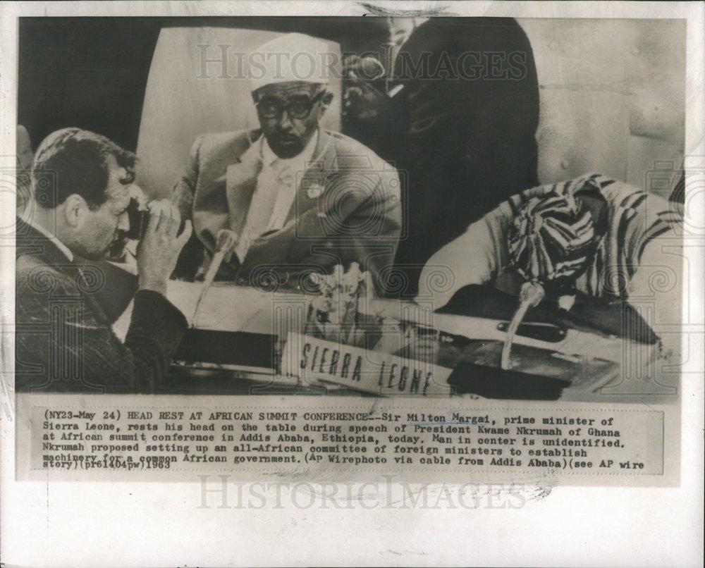 1963 Press Photo Sir Milton Margai Sierra Leonean Politician Prime ...