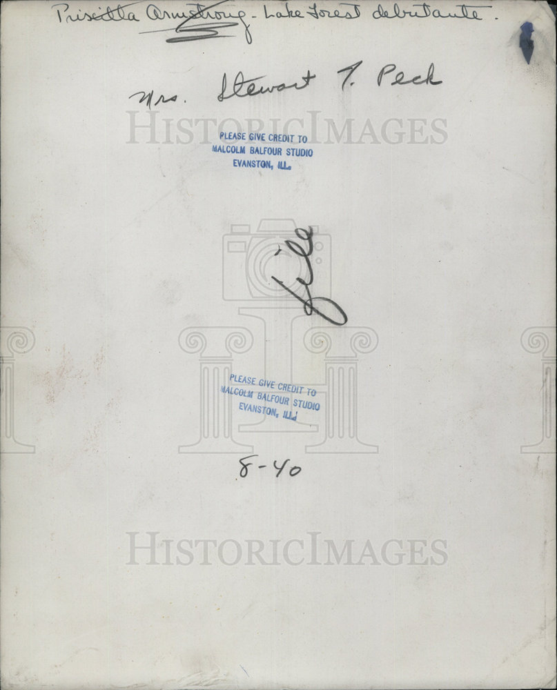 1940 Press Photo Priscilla Armstrong Mrs Stewart Peck wears White Gown