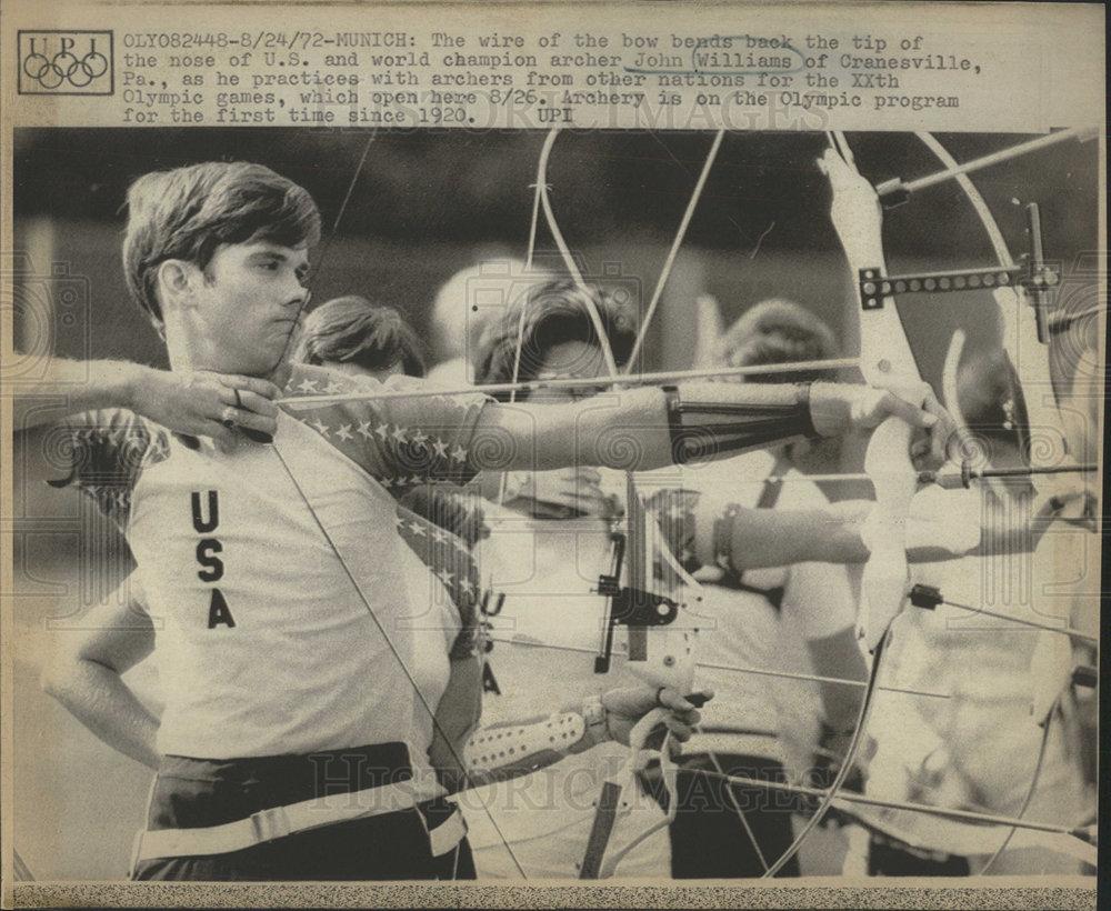 1972 Press Photo JOHN WILLIAMS ARCHER UNITED STATES | Historic Images