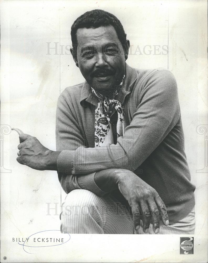 1970 Press Photo Bass Baritone Singer Billy Eckstine
