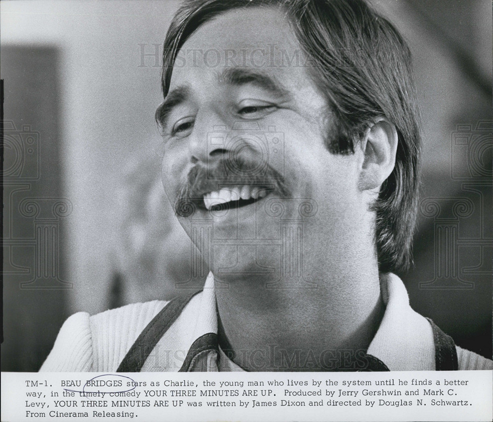Your Three Minutes Are Up Beau Bridges 1973 Vintage Press Photo Print Historic Images