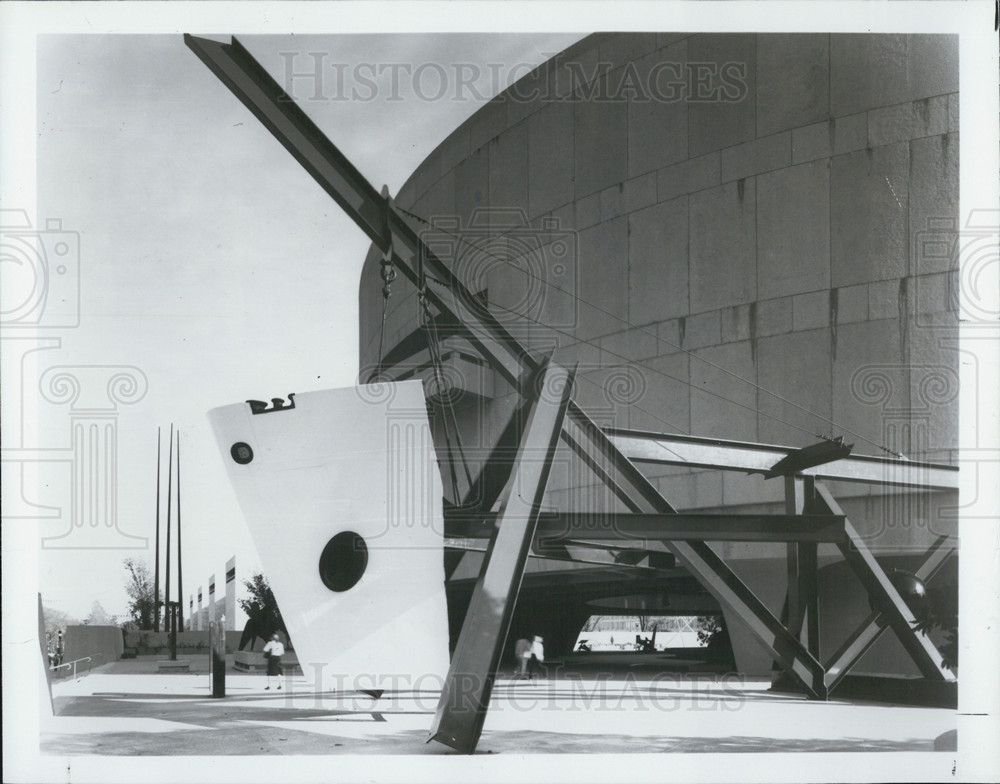 1979 Press Photo Isis Sculpture, Mark di Suvero, Institute Scrap Iron Steel