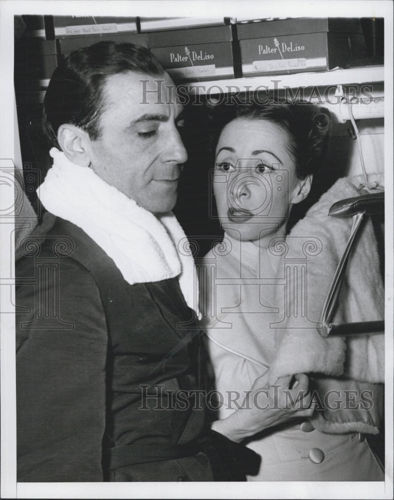1951 Press Photo Dancers Tony & Sally De Marco who were robbed ...