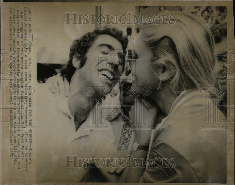 1975 Press manuel orantes u s open tennis