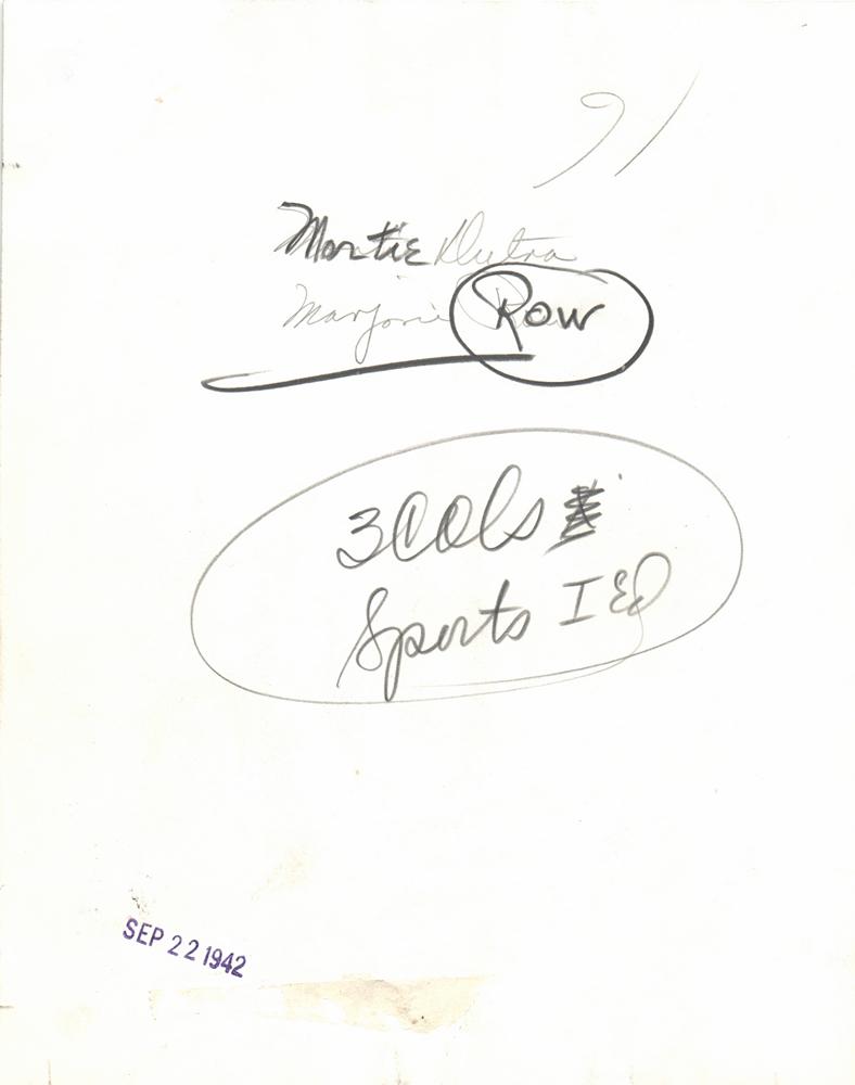 1942  marjorie row golfer morie dutra golf